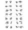 eyes with emotions2 vector image vector image