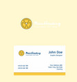 fan logo design with business card template vector image vector image