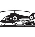 first aid on land and air vector image vector image
