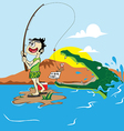 fishing jokes vector image vector image