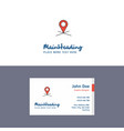 flat map location logo and visiting card template vector image vector image