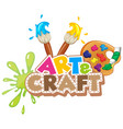 font design for word art and craft vector image vector image