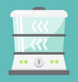food steamer flat icon kitchen and appliance vector image vector image