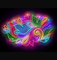 glow abstract ornament in paisley style vector image vector image