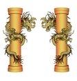 gold dragon on a pole vector image vector image