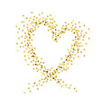 gold heart1 vector image vector image