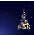 greeting card Christmas tree vector image vector image