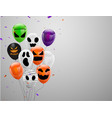 halloween carnival background orange purple vector image vector image