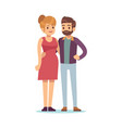 happy couple pregnant woman and her husband vector image
