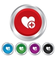 Heart sign icon Add lover symbol vector image vector image