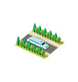isometric front right view limousine vector image