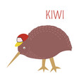 kiwi cartoon bird from australia new vector image vector image
