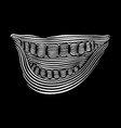 line art smile on a black vector image