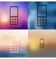 mobile icon on blurred background vector image vector image