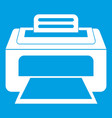 modern laser printer icon white vector image vector image