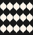 monochrome seamless pattern vertical wavy shapes vector image vector image
