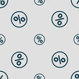 percentage discount icon sign Seamless pattern vector image vector image