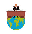 president of world in crown modern king is a vector image vector image