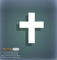 religious cross Christian icon On the blue-green vector image vector image
