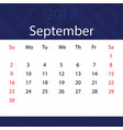 september 2018 calendar popular blue premium for vector image vector image