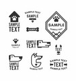 set dog logo and icons for dog club or shop vector image
