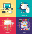 Set of Graphic Art Conceptual Web Design Graphic vector image