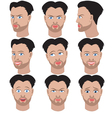 Set of variation of emotions of the same man vector image vector image