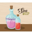 spa beauty and health organic care products vector image