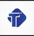 square symbol letter t design minimalist vector image vector image