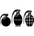 stencils of grenades vector image vector image
