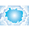 Sun in the sky with clouds vector image vector image
