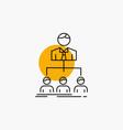 team teamwork organization group company line icon vector image