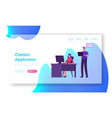 technical receptionist chat bot service customer vector image vector image