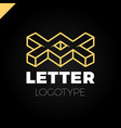 two or double isometric letter x logo icon design vector image vector image