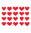 unusual heart icons vector image