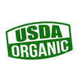 usda organic sign or stamp vector image vector image