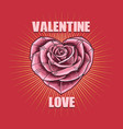 valentine love flower vector image vector image