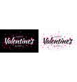 valentines day card valentine banner pink heart vector image