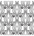 vintage line art tracery black and white seamless vector image