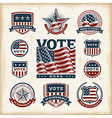 Vintage USA election labels and badges set vector image