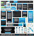 web design elements collection vector image