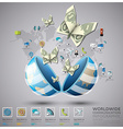 Worldwide Communication And Connection Spending vector image vector image