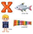 x alphabet vector image vector image