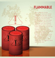 container of flammable liquid red canister vector image