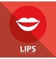 lips button vector image