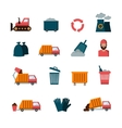 Recycling and waste flat icons vector image