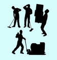 15 worker vector image