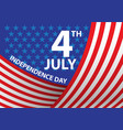 4th july independence day usa curve vector image vector image