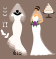 a set of wedding dresses the choice clothes for vector image