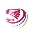 abstract badminton logo